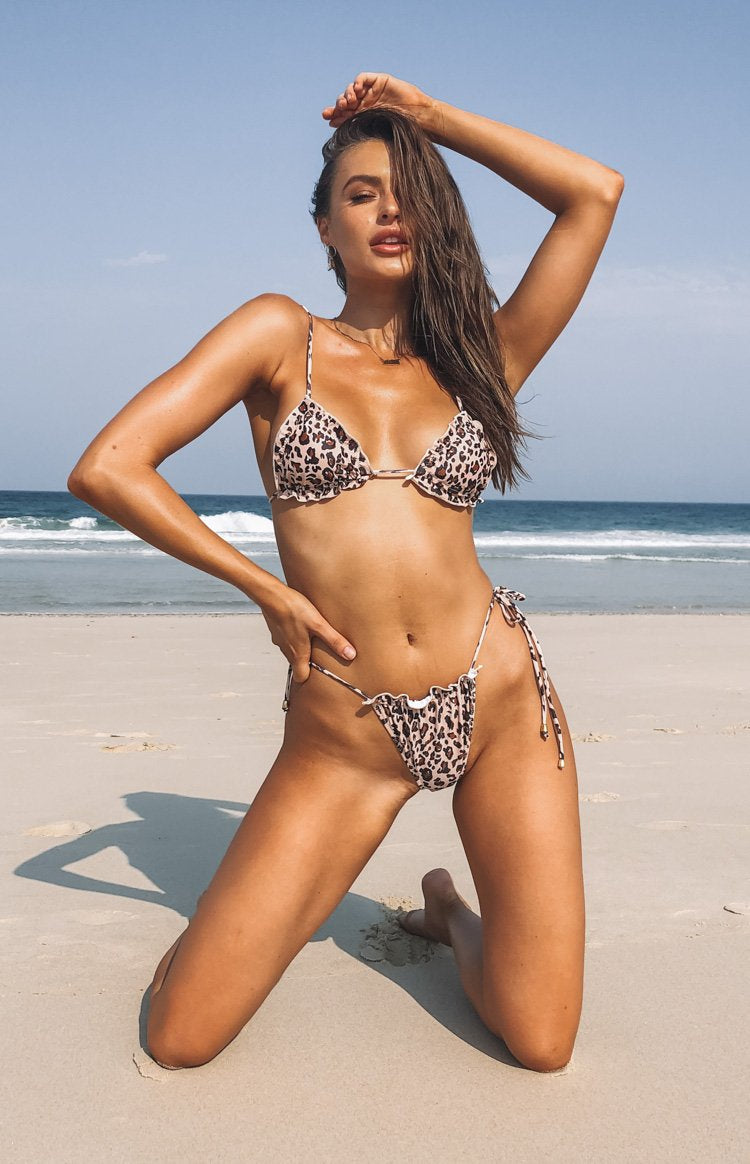 9.0 Swim Nadie Bikini Bottoms Natural Leopard