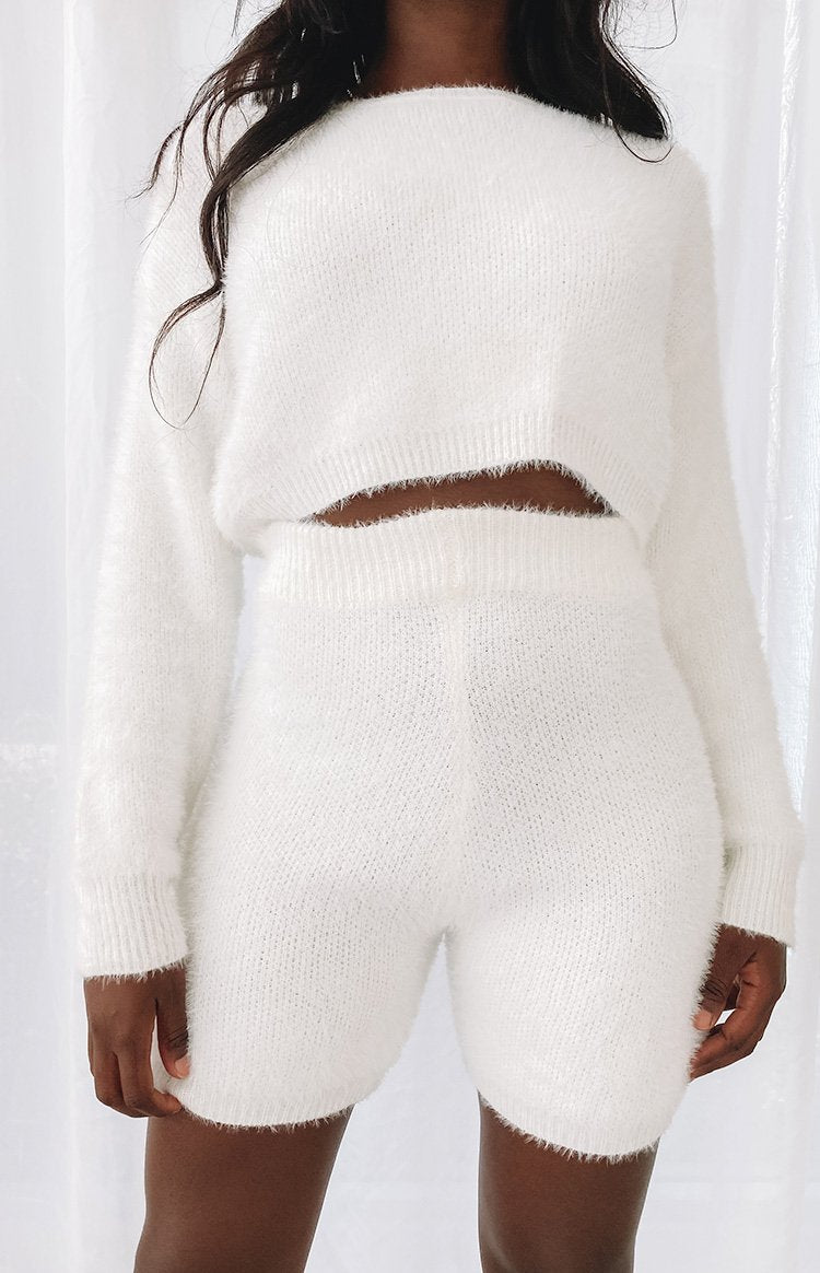 Amalia Long Sleeve Knit Top Cream