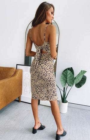 Amaretto Midi Dress Leopard