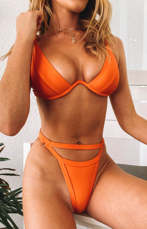9.0 Swim x Ariella Attina Underwire Bikini Top Orange