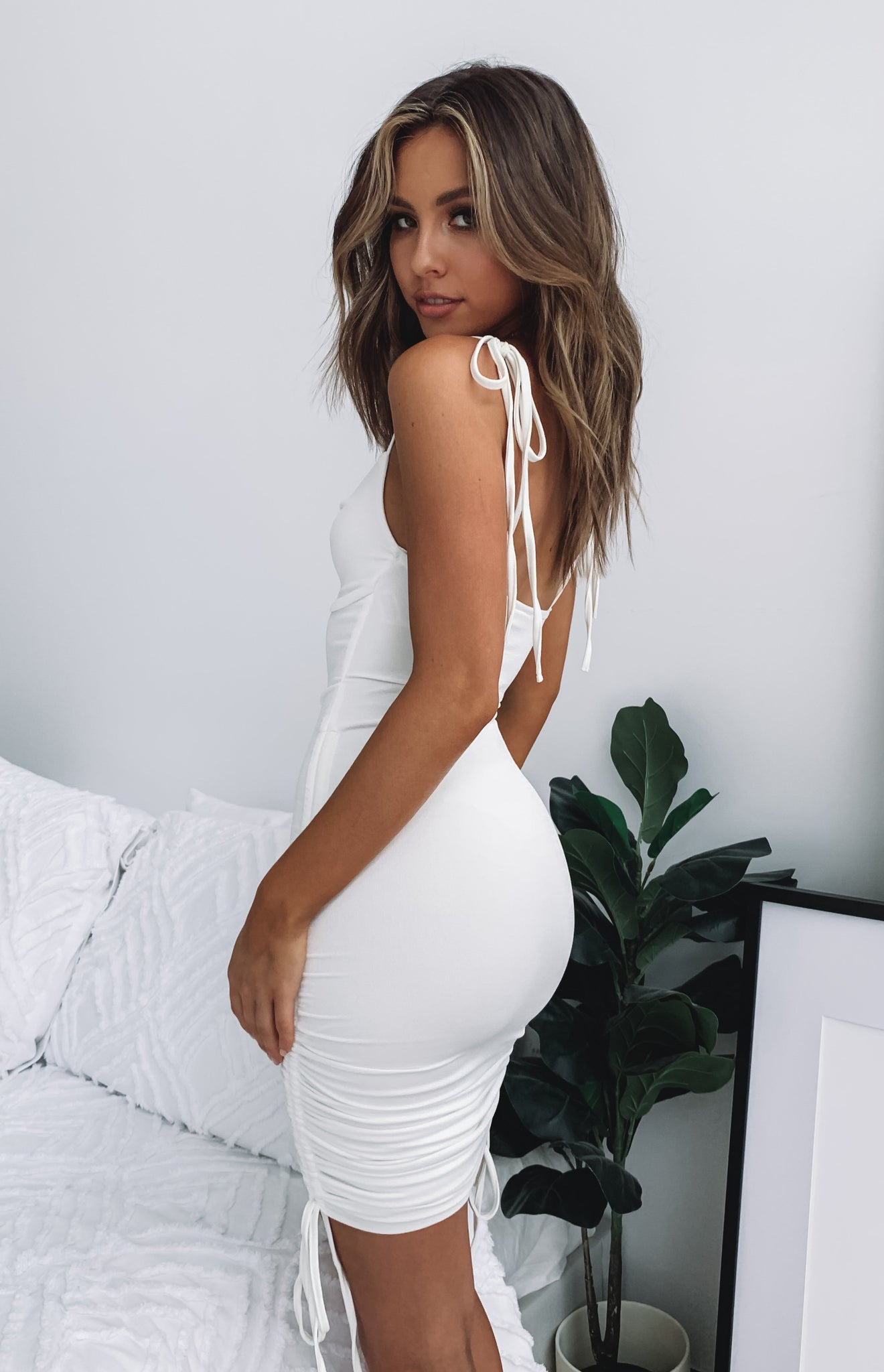 Bad Guy Mini Dress White