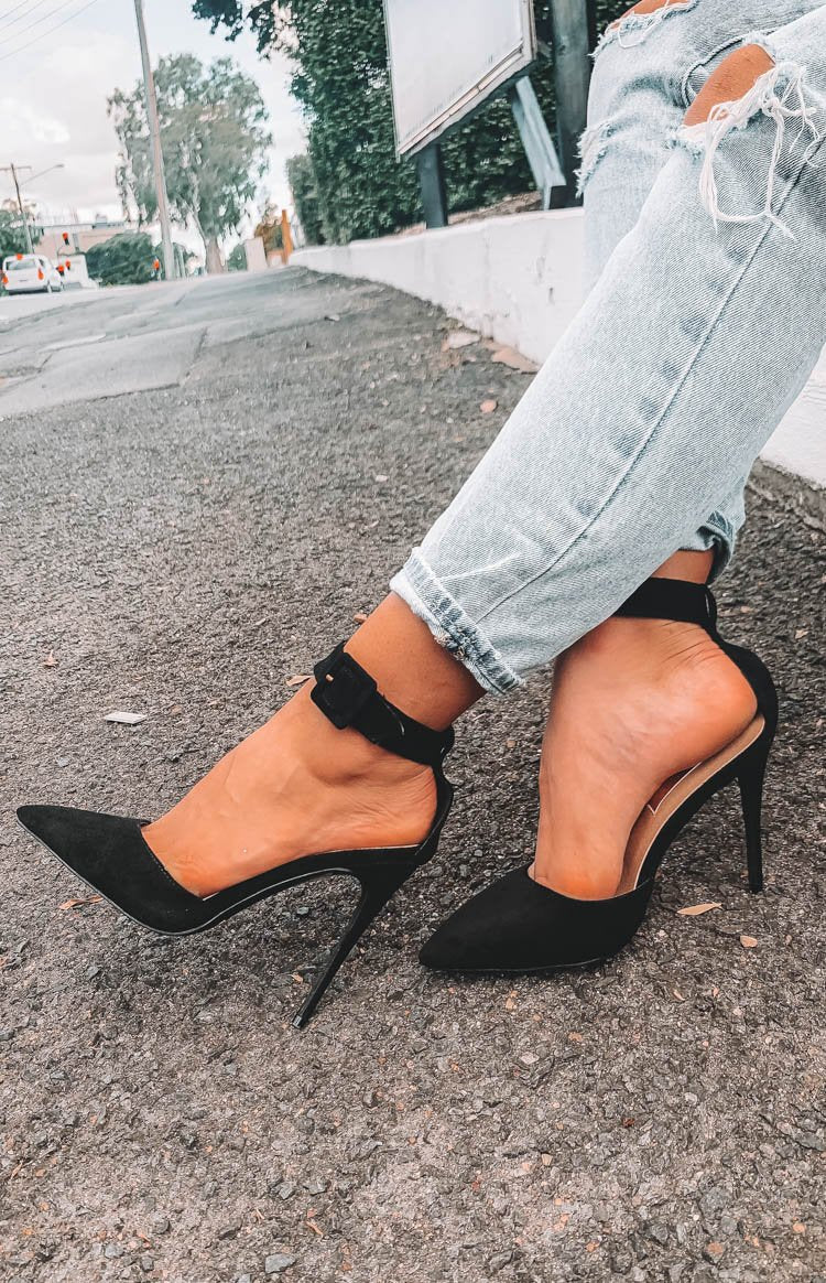 Billini Riley Heels Black Suede