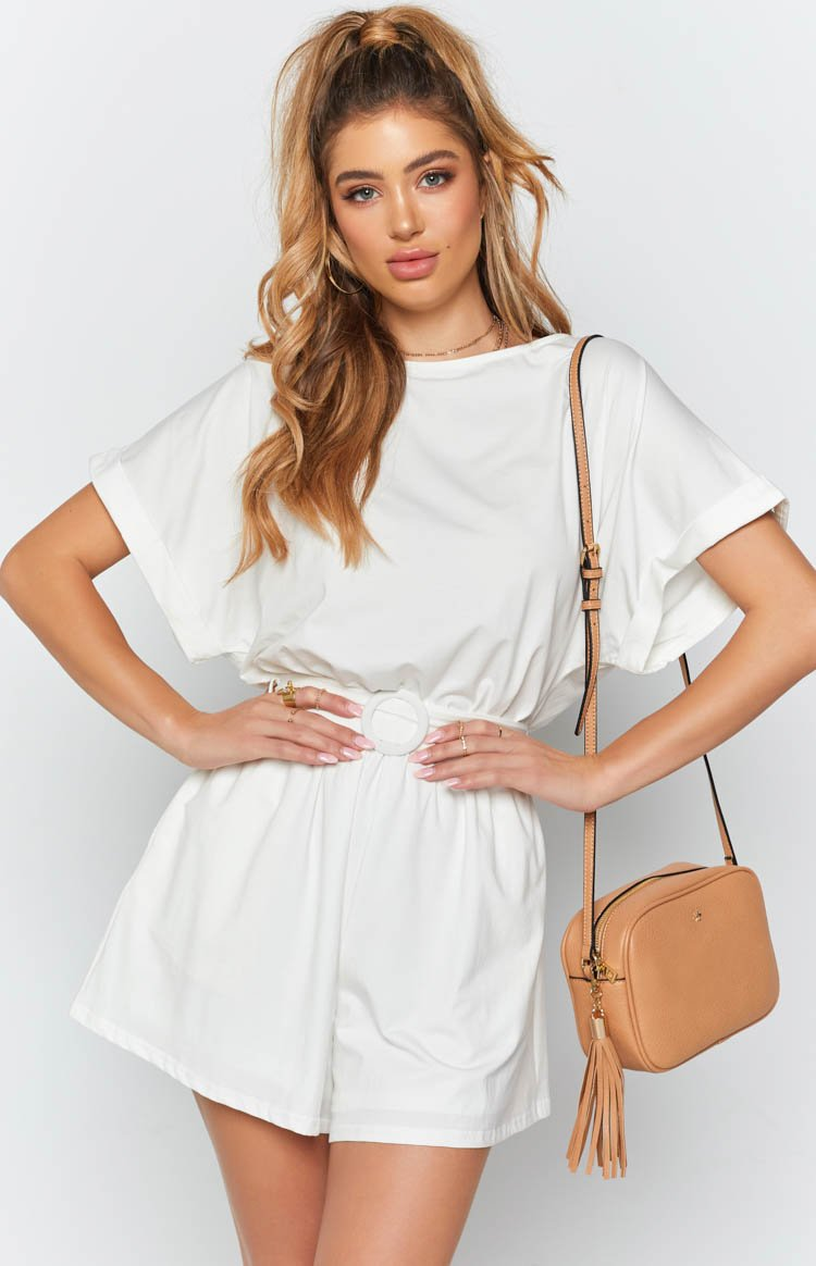 Blaire Playsuit White