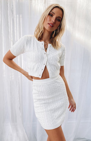 Bold Miss Skirt White