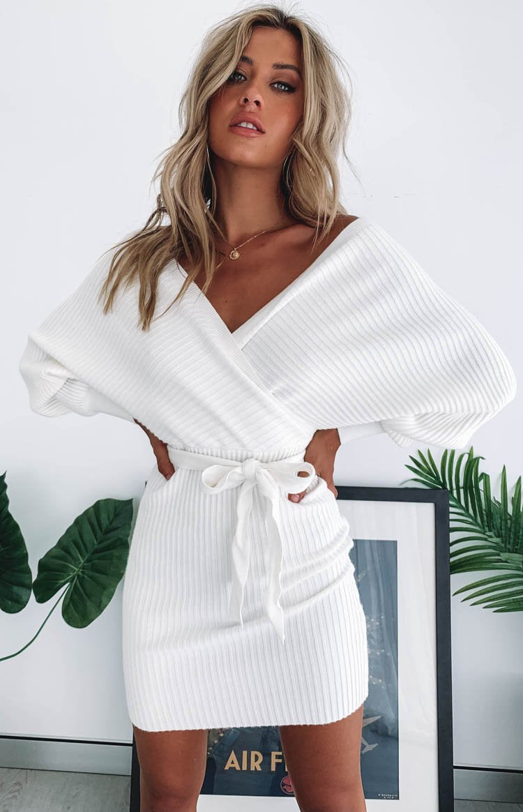 Cruisade Knit Dress White