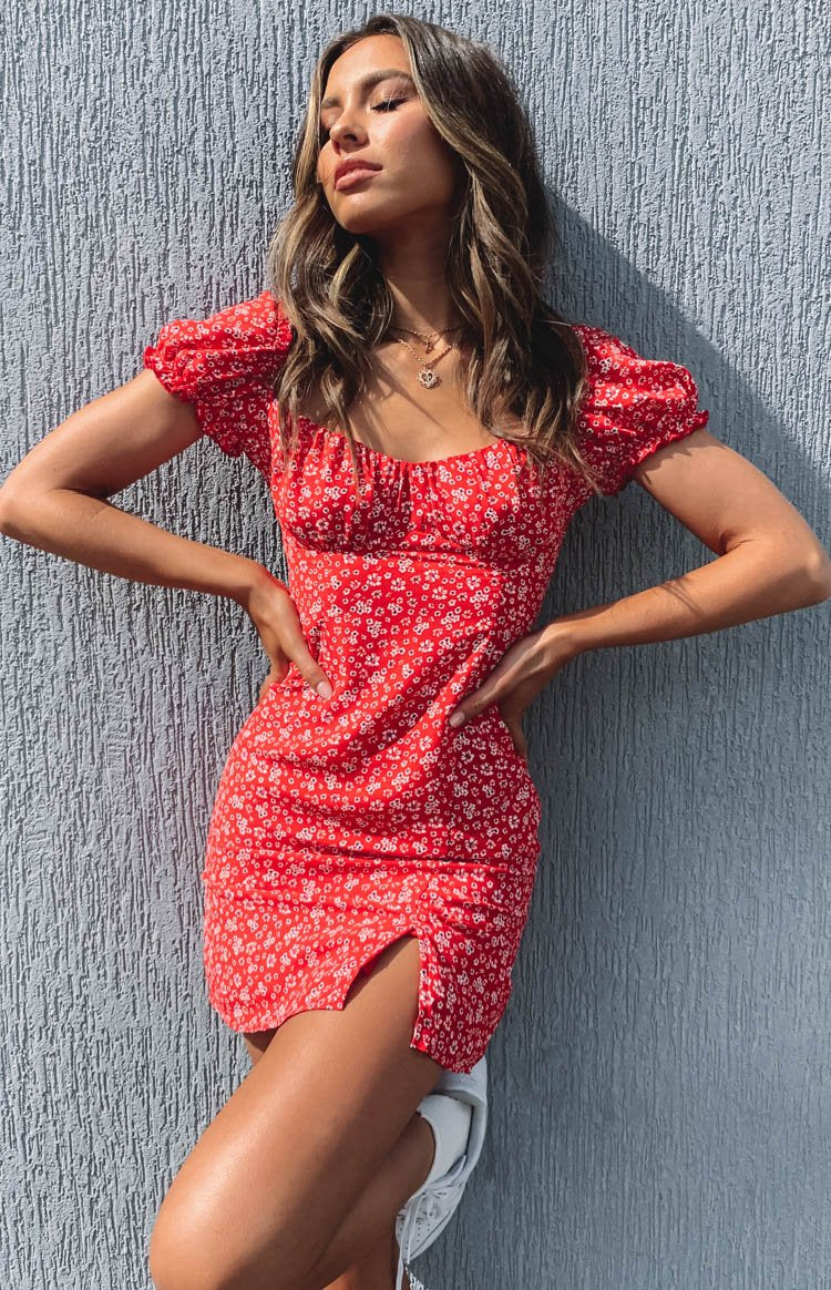 Dallas Dress Red Print