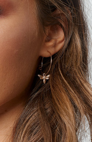 Eclat Honey Bee Earrings Gold
