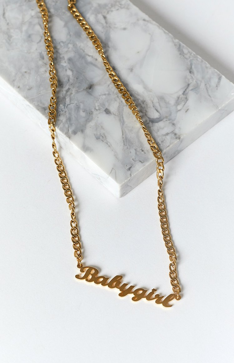 Eclat Ziva Babygirl Chain Necklace Gold