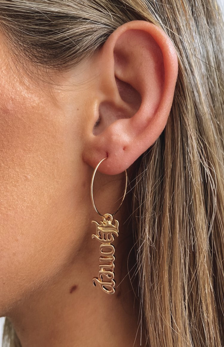 Eclat Beachwood Honey Hoop Earrings Gold