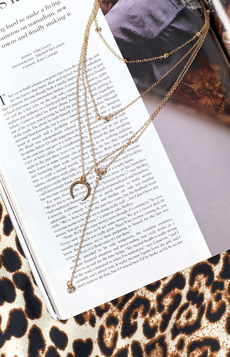 Eclat Dive In Necklace Gold