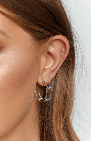 Eclat Liliane Hoop Earrings Silver