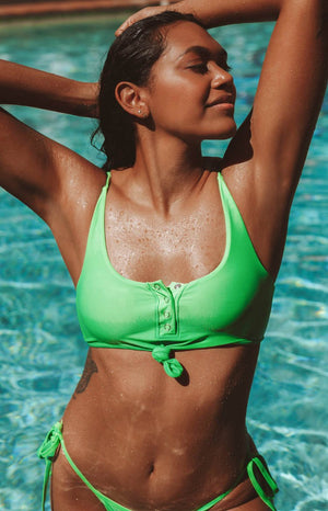 9.0 Swim Rio Knot Top Lime Green