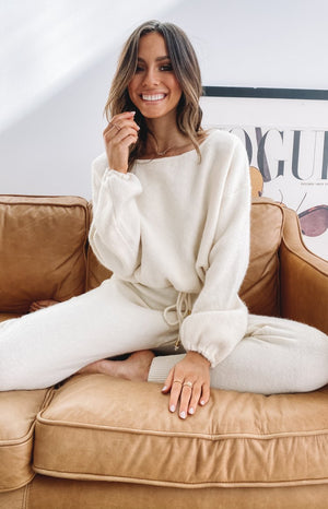 Home Girl Knit Jumper Cream