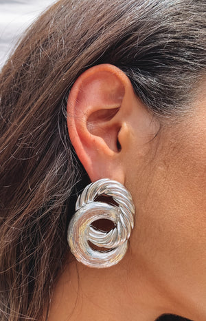 Eclat Handro Earrings Silver