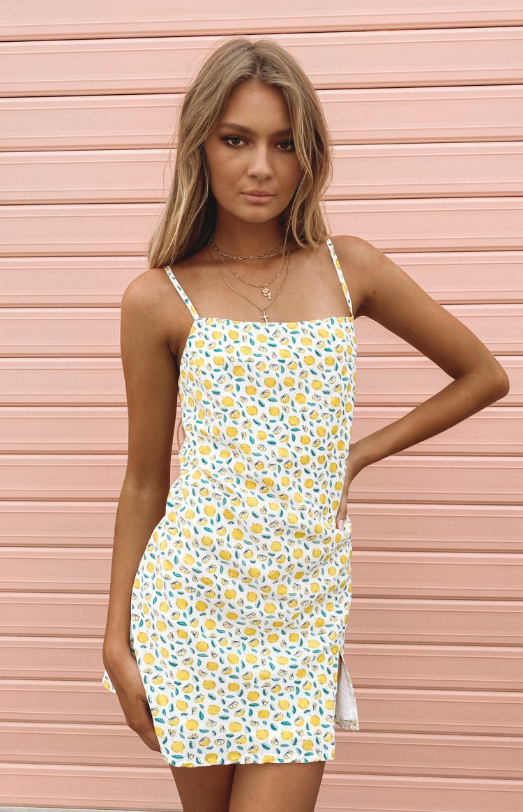 Jordyn Dress Lemon Print