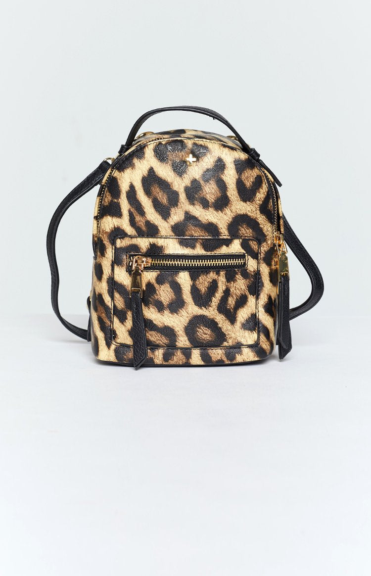 Peta & Jain Zoe Mini Back Pack Black Leopard