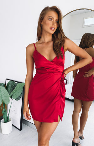 Sasha Wrap Dress Red