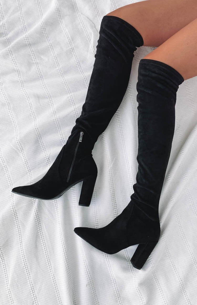Therapy Aria Thigh High Boots Black