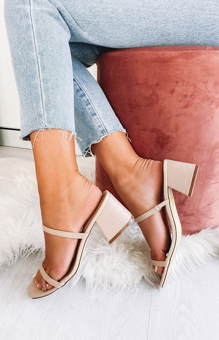 Therapy Goldie Heels Nude PU