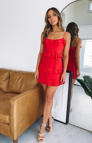 Vixen Mini Dress Red