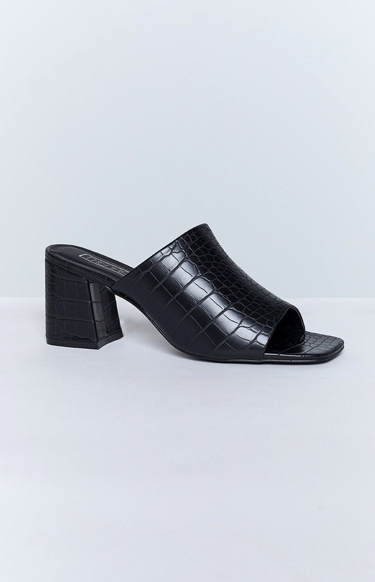 Therapy Willow Heels Black Croc