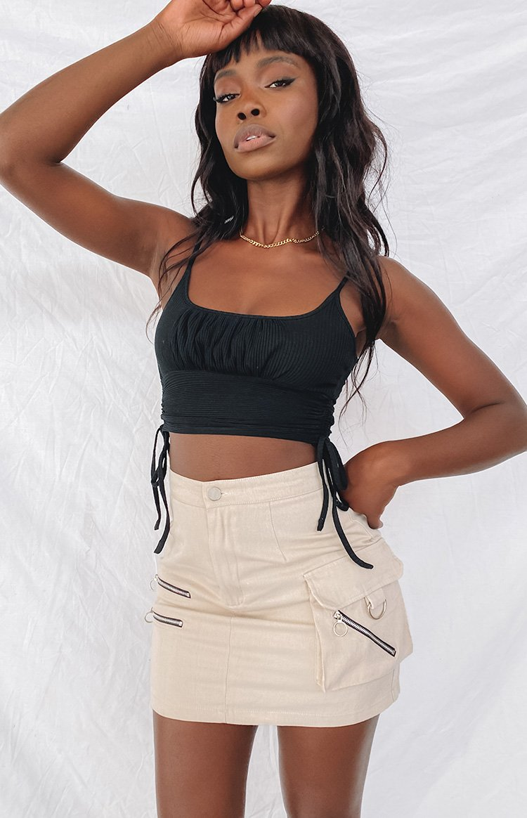 Kalea Crop Top Black