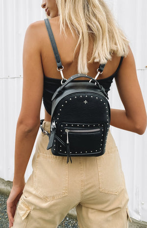 Peta And Jain Zoe Stud Backpack Black