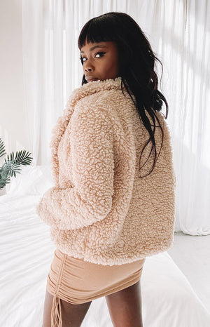 Alaskan Nights Teddy Jacket Beige