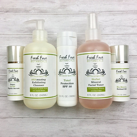 FAB 5 Anti-Aging Skin Care Combo - Fresh Face Botanicals™ - Advanced Natural Skin Care