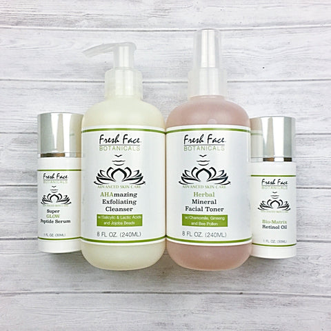 Cleanser - Toner - Treatment Combo - Fresh Face Botanicals™ - Advanced Natural Skin Care