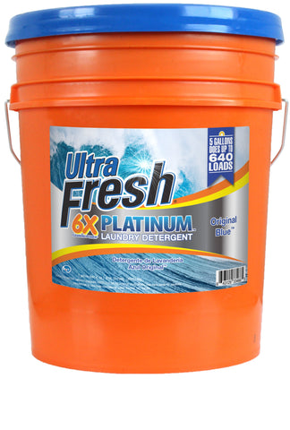 Ultra Fresh® Platinum™ Original Blue™ 6X Laundry Detergent - 5 Gallons