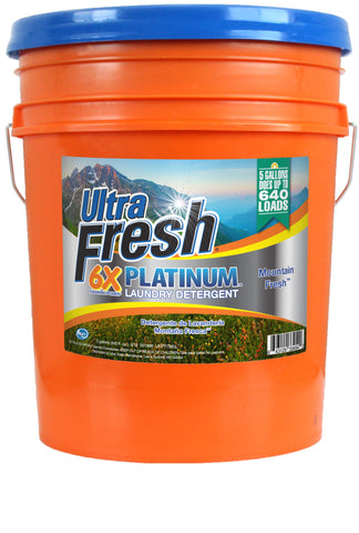 Ultra Fresh® Platinum™ Mountain Fresh™ 6X Laundry Detergent - 5 Gallons