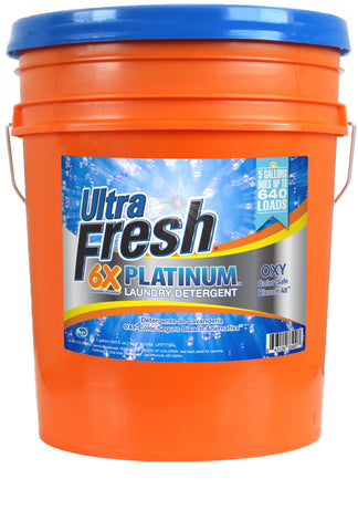Ultra Fresh® Platinum™ OXY Bleach Alternative™ 6X Laundry Detergent - 5 Gallons
