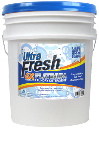 Ultra Fresh® Platinum™ Fragrance Free & Dye Free™ Laundry Detergent - 5 Gallons