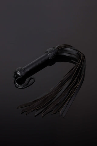 The Imperial Crystal Handle Leather Flogger