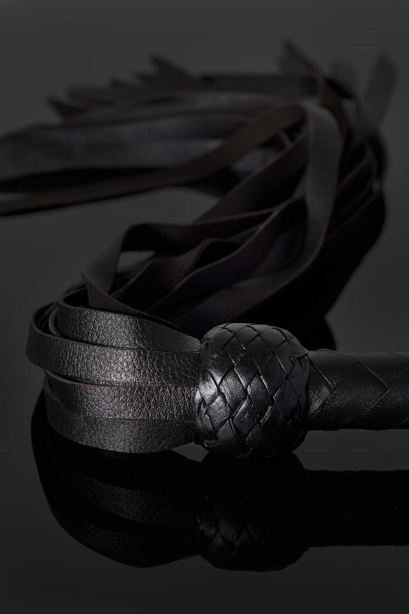 House of SXN Servage Classic Bondage Leather Flogger 4