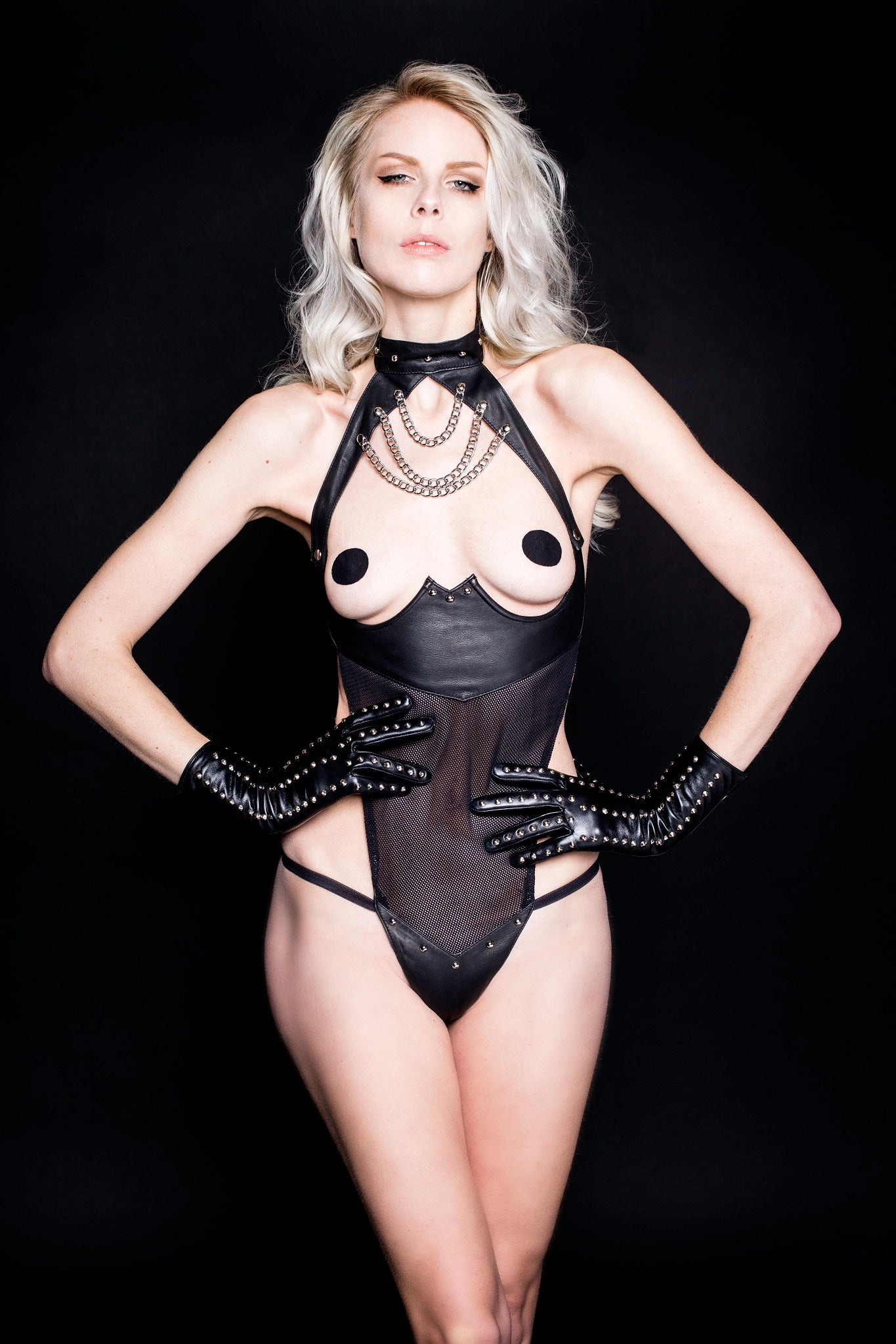 House of SXN Leather Sense Domina Lingerie