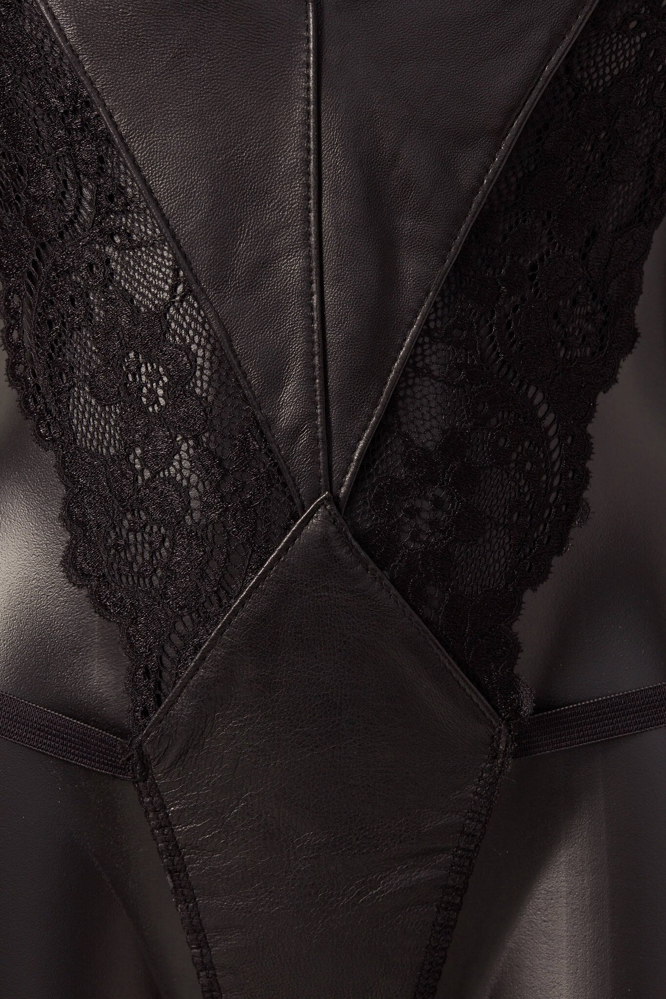 House of SXN VXN Leather and Lace Teddy