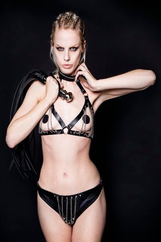 Leather Sense Corsage Lingerie