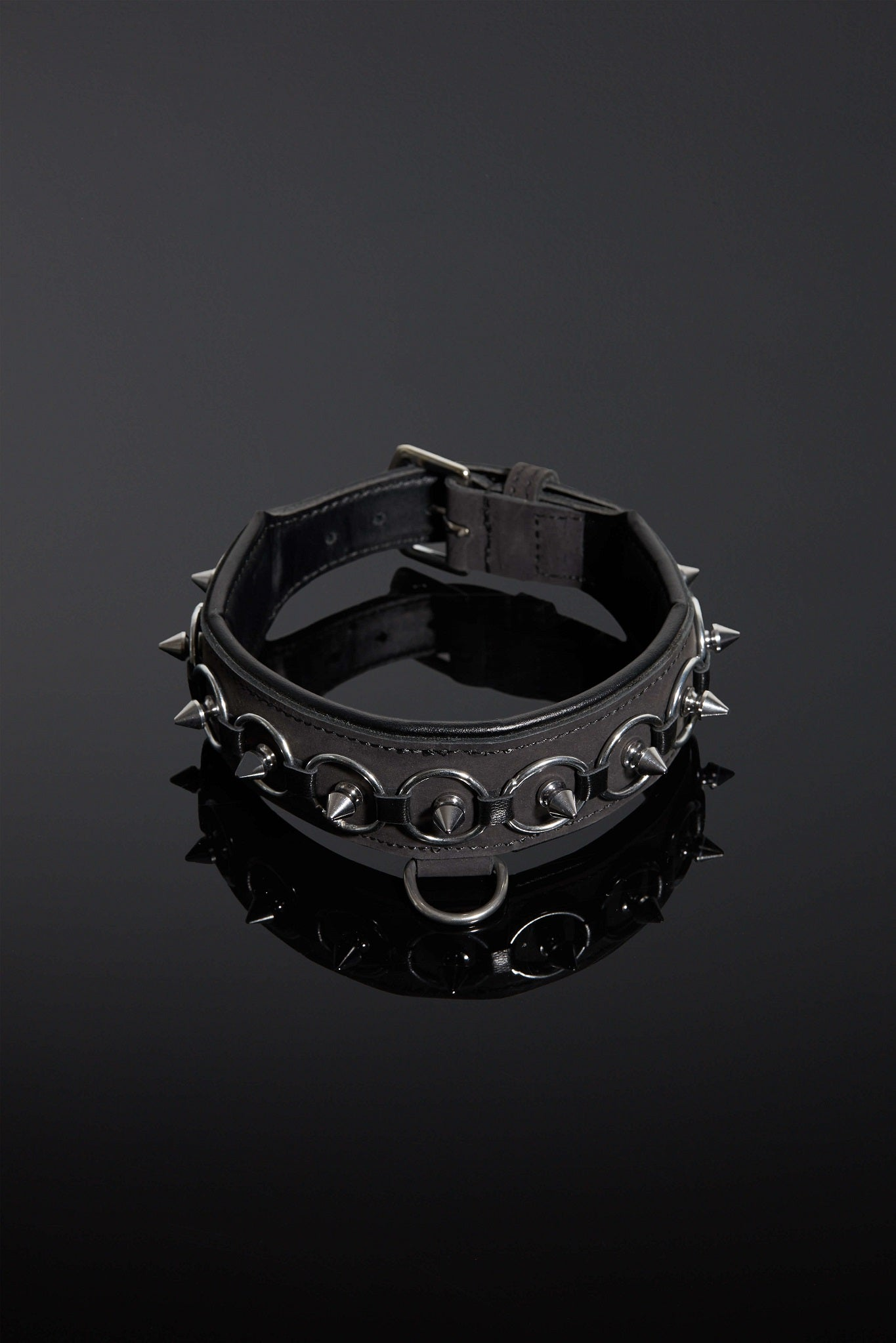 House of SXN Servus Leather BDSM Slave Collar