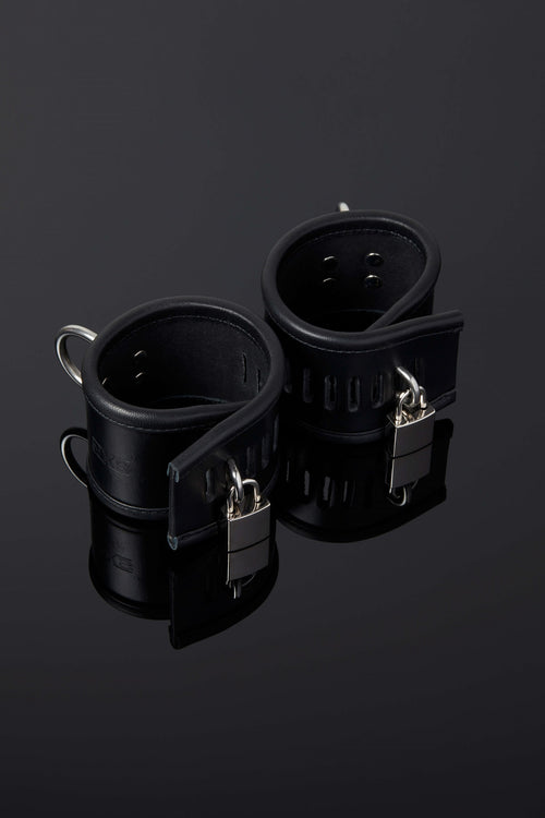 House of SXN Luxury Leather Bondage Ultra Asylum Cuffs Main