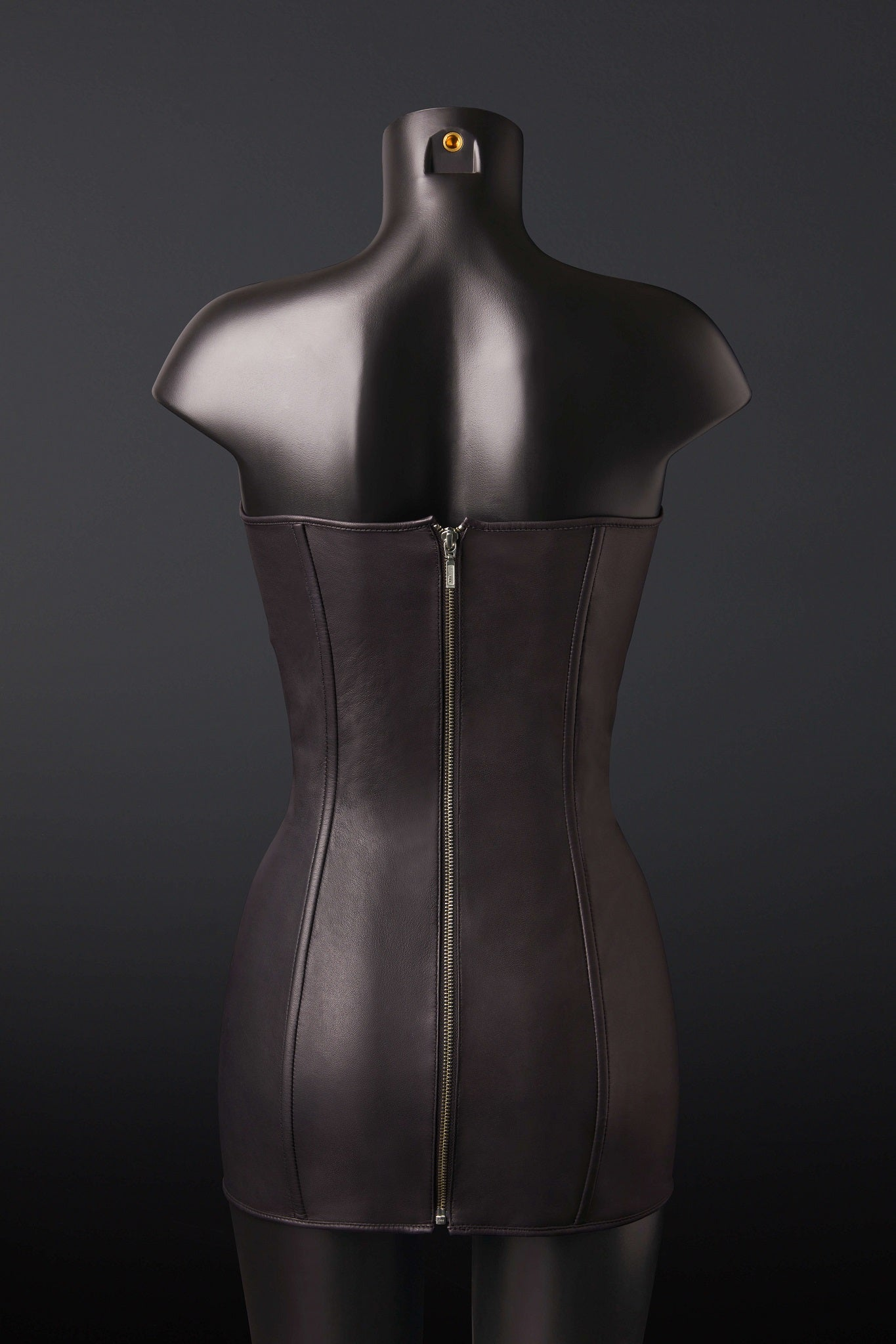House of SXN Ultra Black Leather Dress 2