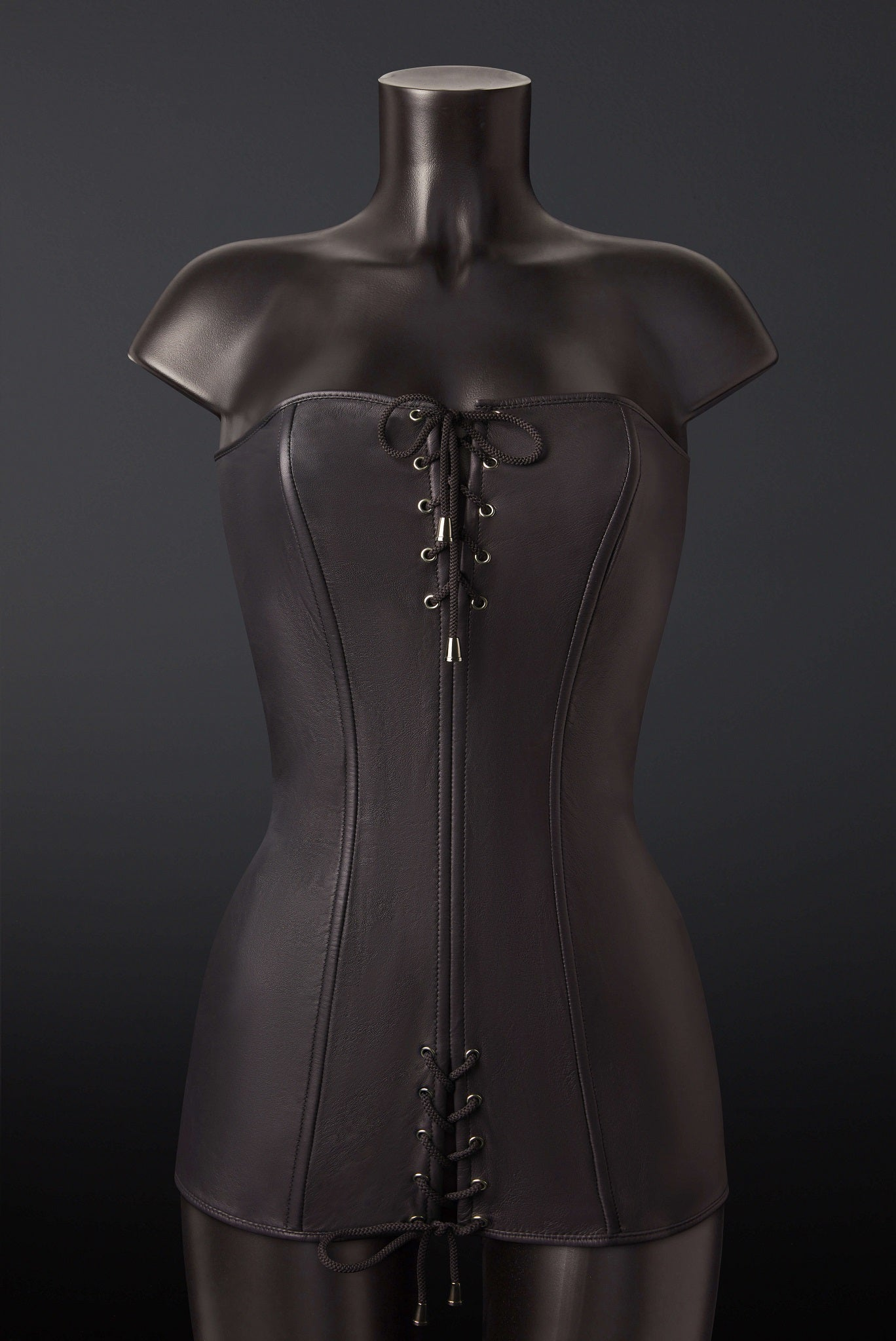 House of SXN Ultra Black Leather Dress 1