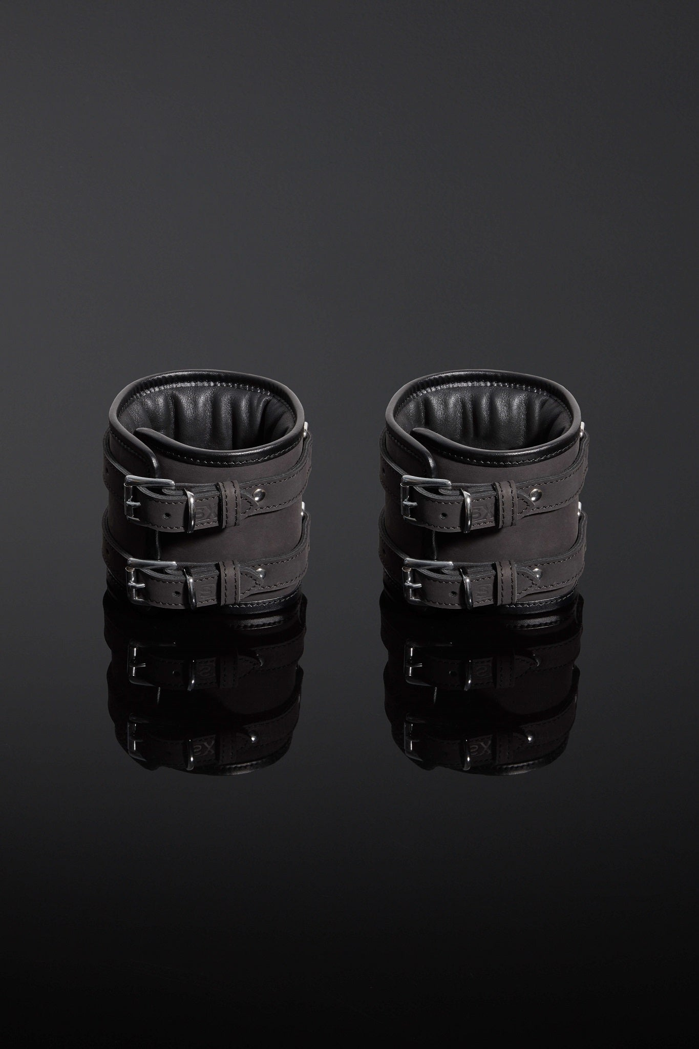 House of SXN - Servage Nubuck Leather Bondage Cuffs 4
