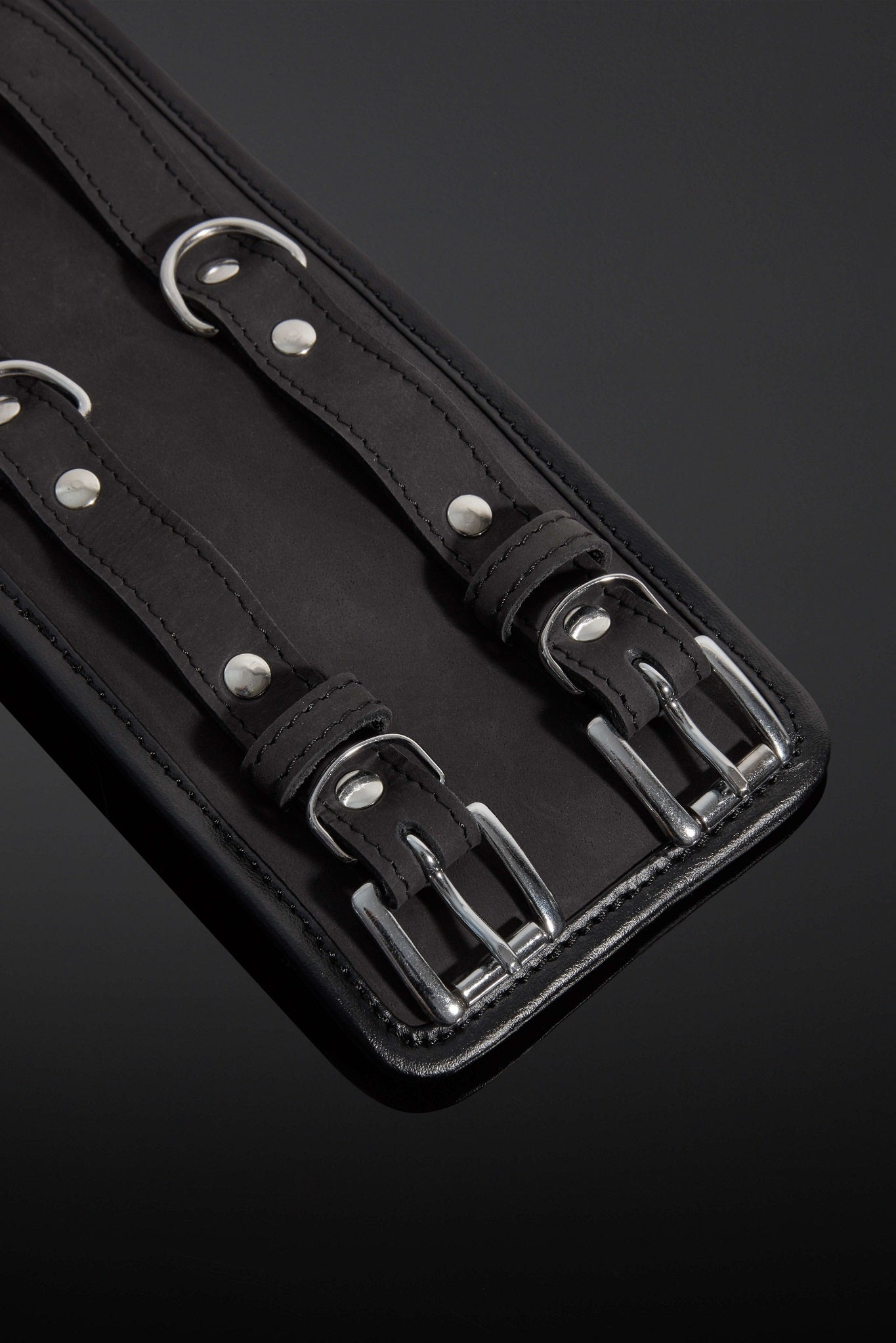House of SXN - Servage Nubuck Leather Bondage Cuffs 2