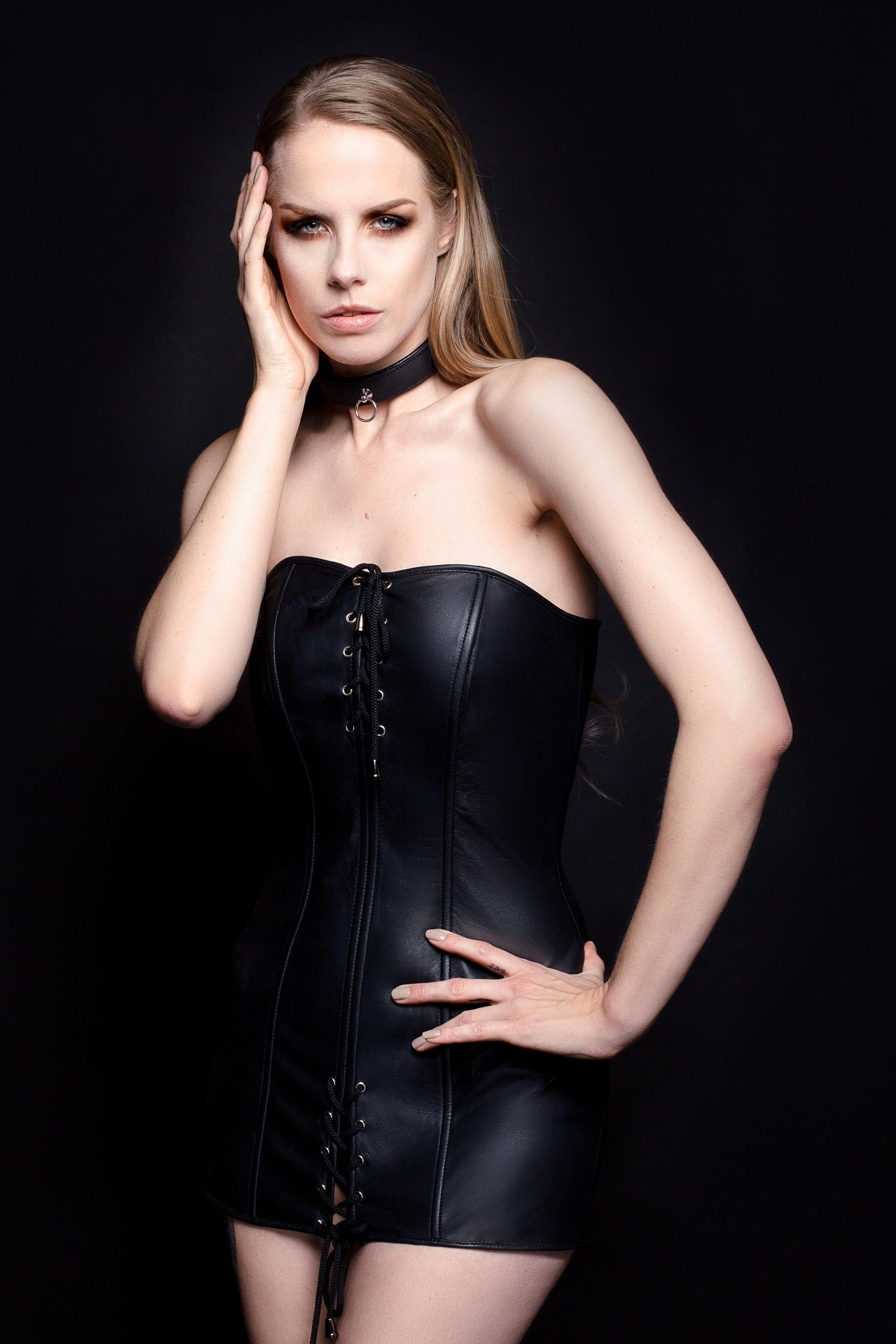 Ultra Black Leather Dress - House of SXN