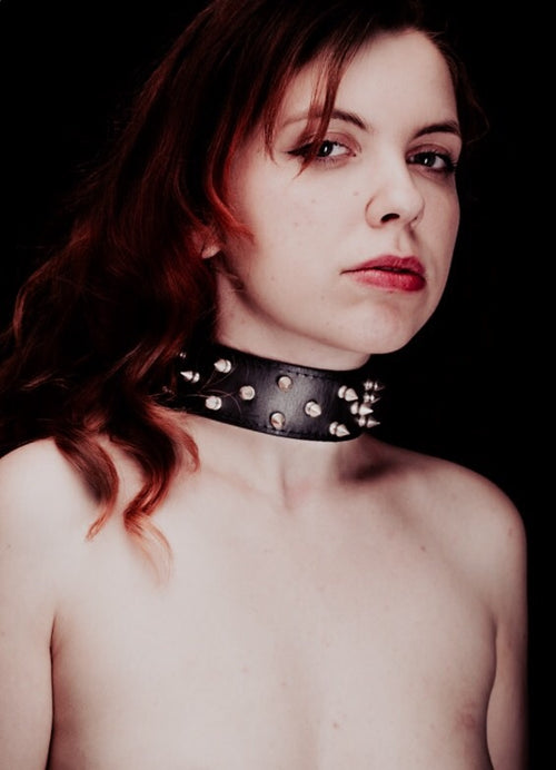 House of SXN SpikeD Luxury Slave Collar with Spikes for BDSM Model