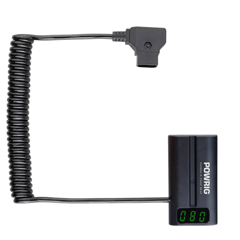POWRIG power cable LED Display D-Tap to NP-F Power cable adapter for On-Camera Monitors Recording ZOOM F6 field recorder