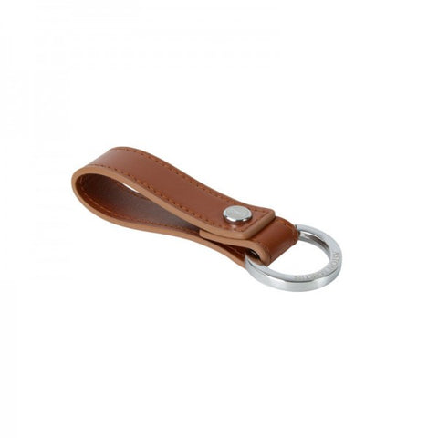 Aston Martin Leather Keyring - Tan