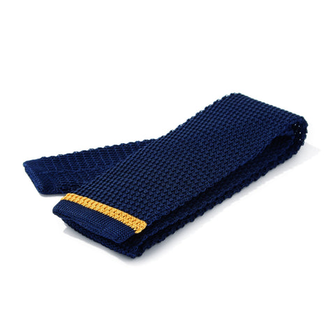 Bentley Knitted Tie- Blue